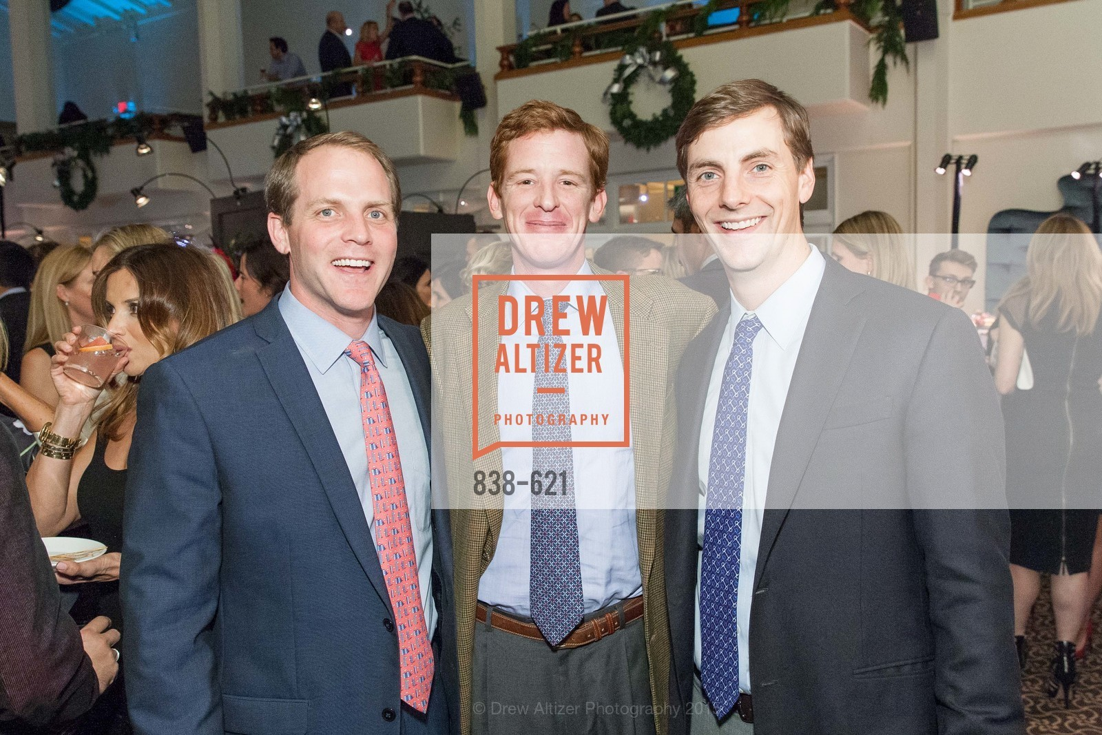 Aaron Fenton, Patrick Spalding, Michael Ellis, Children of Shelters' Jingle and Mingle, Golden Gate Club. 135 Fisher Loop, December 3rd, 2015,Drew Altizer, Drew Altizer Photography, full-service agency, private events, San Francisco photographer, photographer california