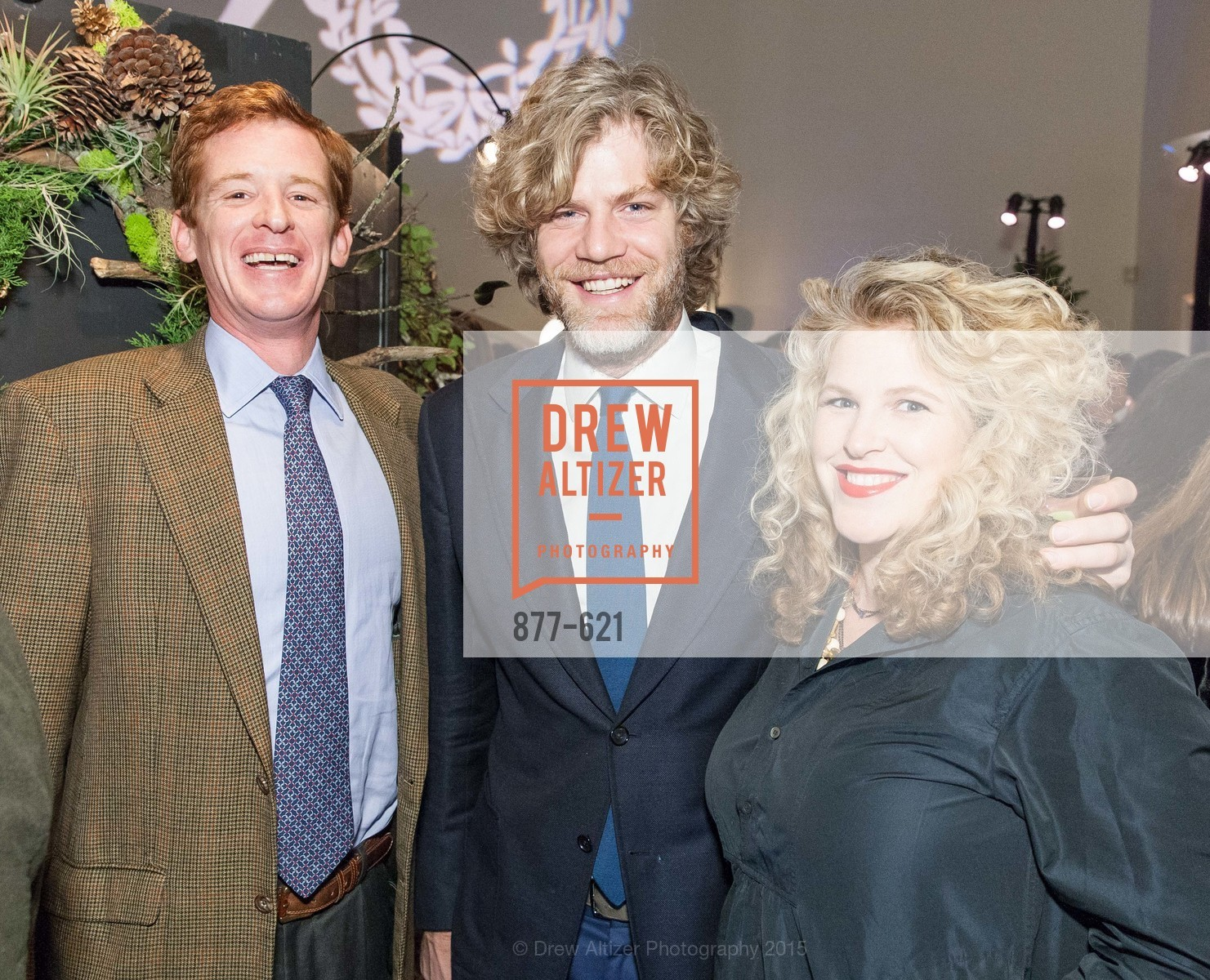 Patrick Spalding, Jeff Lanza, Claire Hudson, Children of Shelters' Jingle and Mingle, Golden Gate Club. 135 Fisher Loop, December 3rd, 2015,Drew Altizer, Drew Altizer Photography, full-service event agency, private events, San Francisco photographer, photographer California