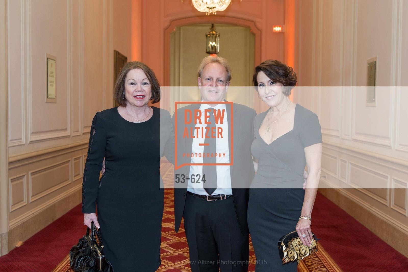 Jennifer Berger, David Shuh, Susan Atherton, 2015 Raphael House Gala