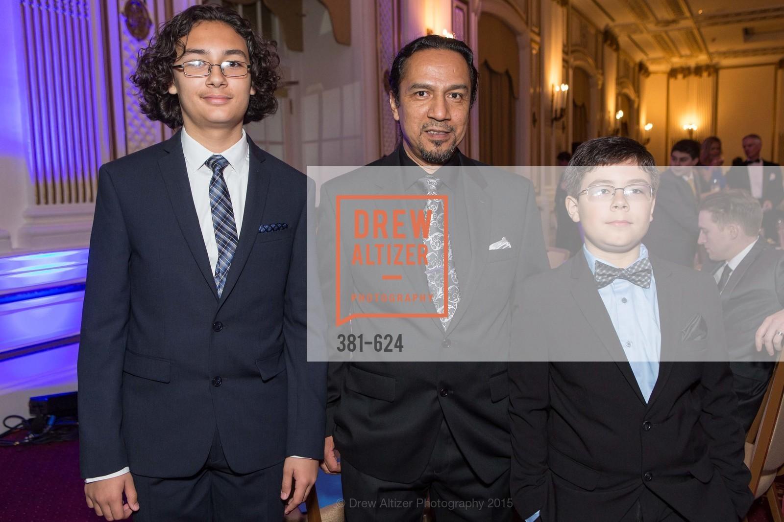 Julian Calderon, Hector Calderon, Isaac Calderon, 2015 Raphael House Gala
