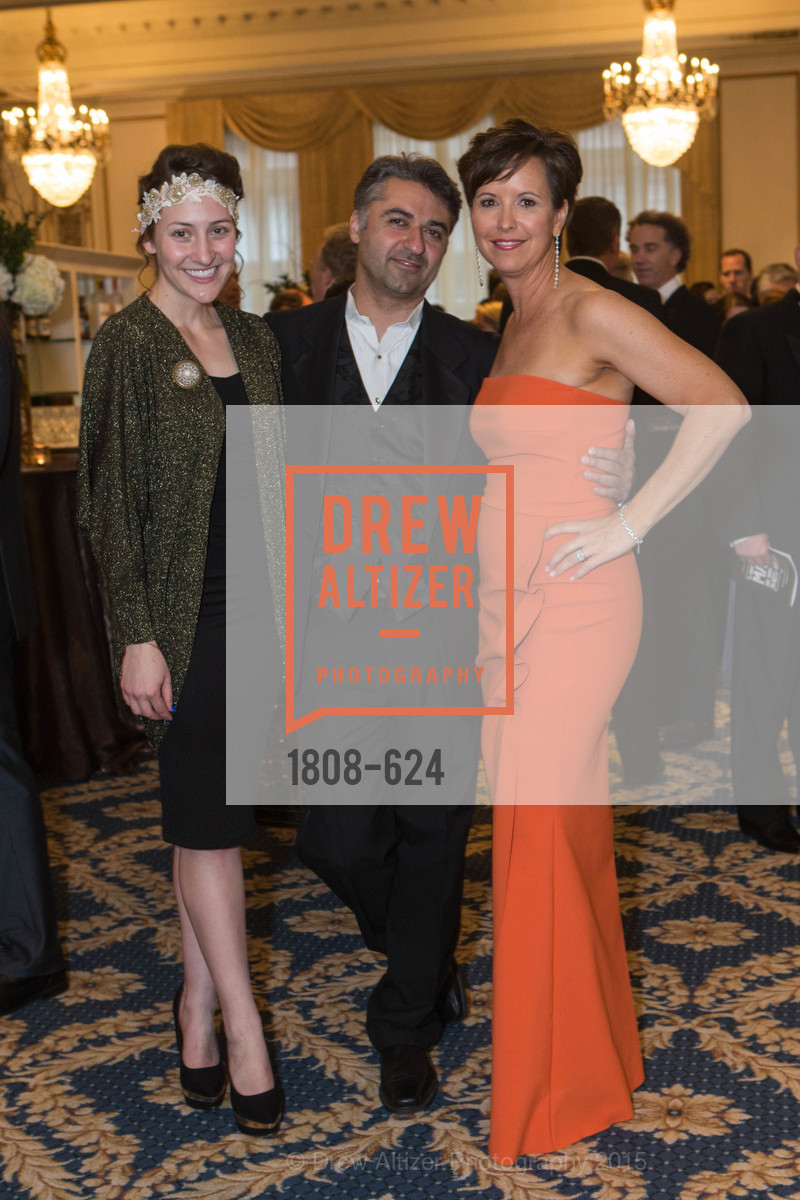 Hannah Keck, Hooman Khalili, Kate Smith, 2015 Raphael House Gala