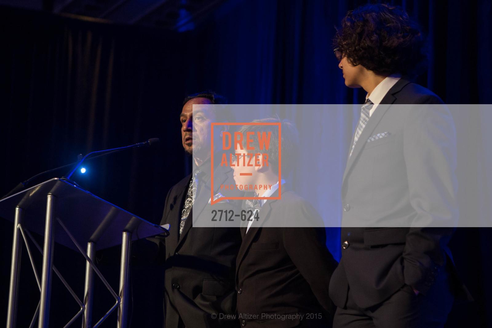 Hector Calderon, Isaac Calderon, Julian Calderon, 2015 Raphael House Gala