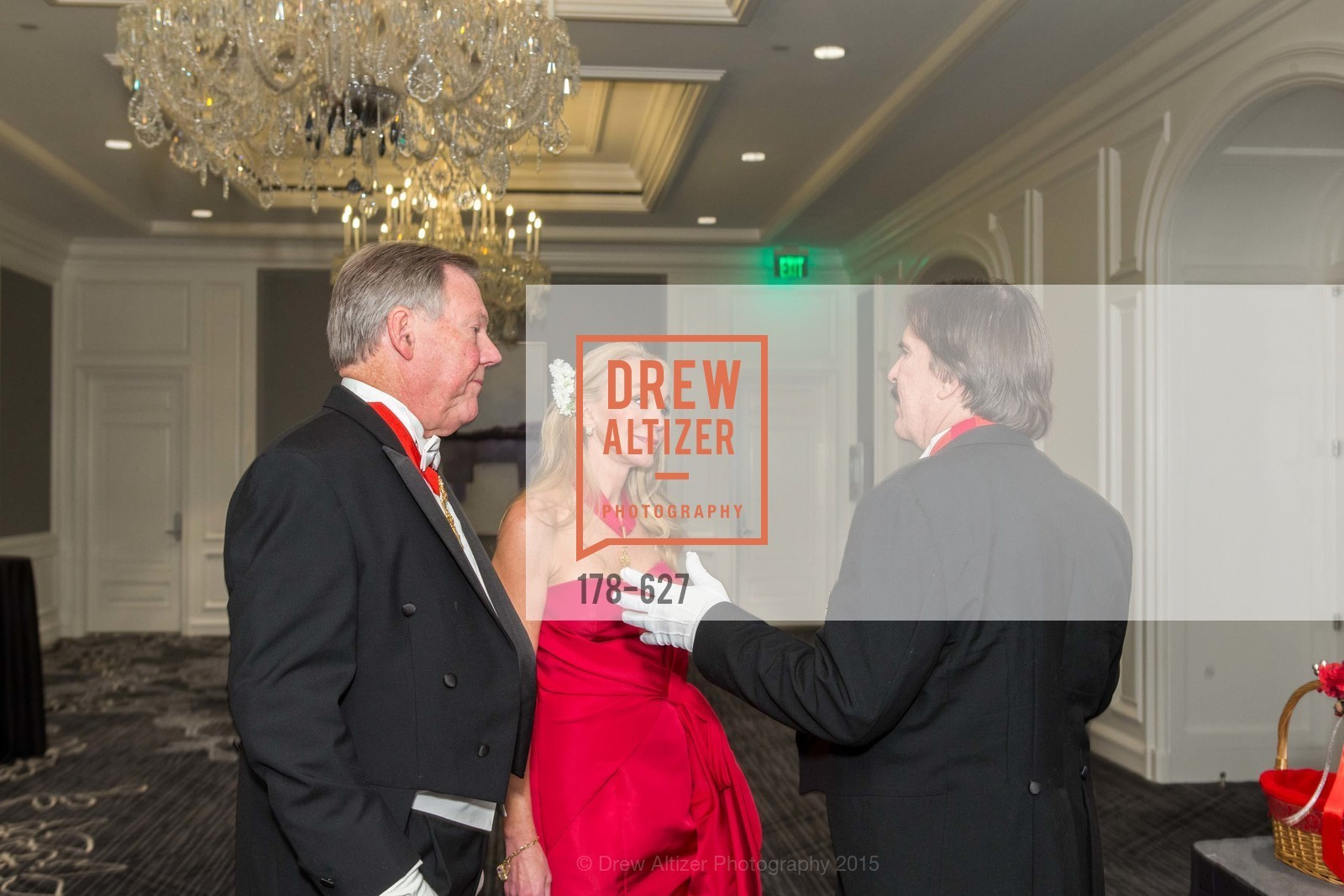 Bill Gisvold, Giselle Parry, John Rosin, Sovereign Order Of St John of Jerusalem Knights Hospitaller Gala, Ritz Carlton San Francisco, December 5th, 2015,Drew Altizer, Drew Altizer Photography, full-service agency, private events, San Francisco photographer, photographer california