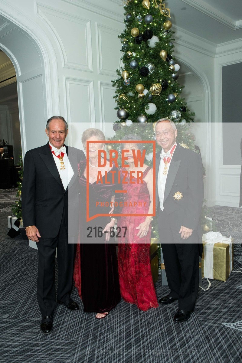John Sobrato, Sue Sobrato, Helen Chew, Larry Chew, Sovereign Order Of St John of Jerusalem Knights Hospitaller Gala, Ritz Carlton San Francisco, December 5th, 2015,Drew Altizer, Drew Altizer Photography, full-service agency, private events, San Francisco photographer, photographer california