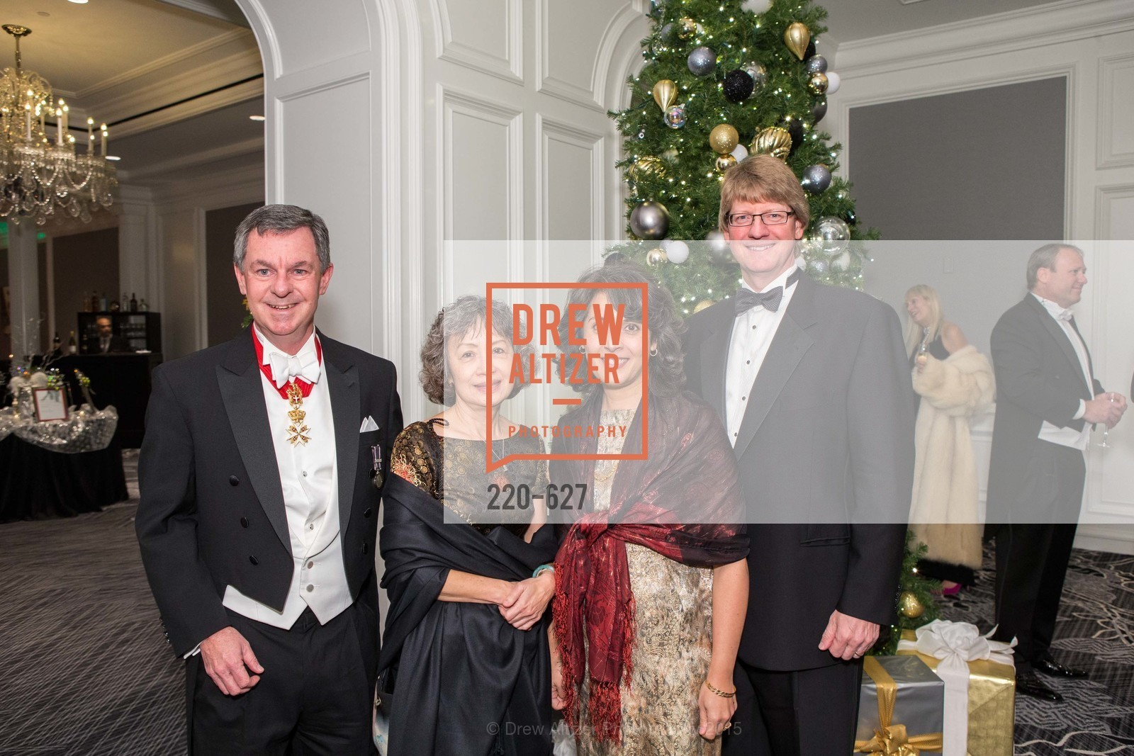 Christopher Greene, Susan Quon, Nancy Woodall, Michael Woodall, Sovereign Order Of St John of Jerusalem Knights Hospitaller Gala, Ritz Carlton San Francisco, December 5th, 2015,Drew Altizer, Drew Altizer Photography, full-service agency, private events, San Francisco photographer, photographer california