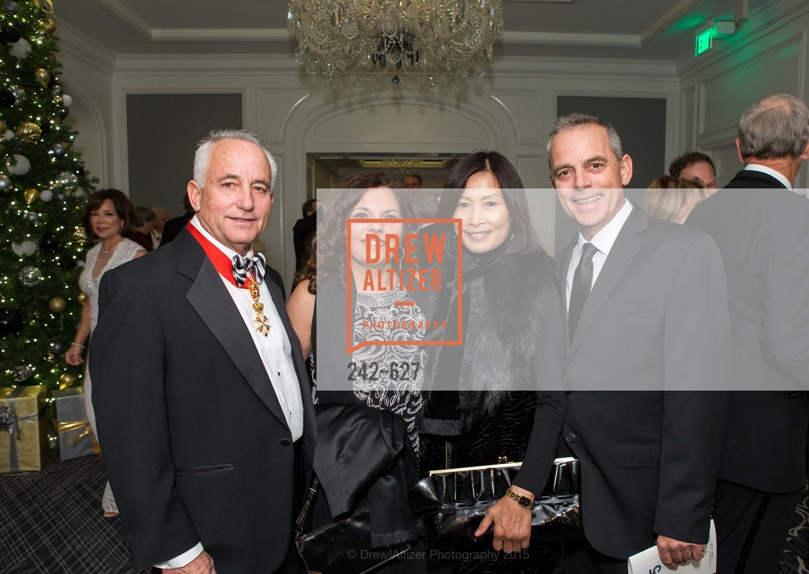 Steve Lopes, Alice Lopes, Xiao Lopes, Jeff Lopes, Sovereign Order Of St John of Jerusalem Knights Hospitaller Gala, Ritz Carlton San Francisco, December 5th, 2015,Drew Altizer, Drew Altizer Photography, full-service agency, private events, San Francisco photographer, photographer california