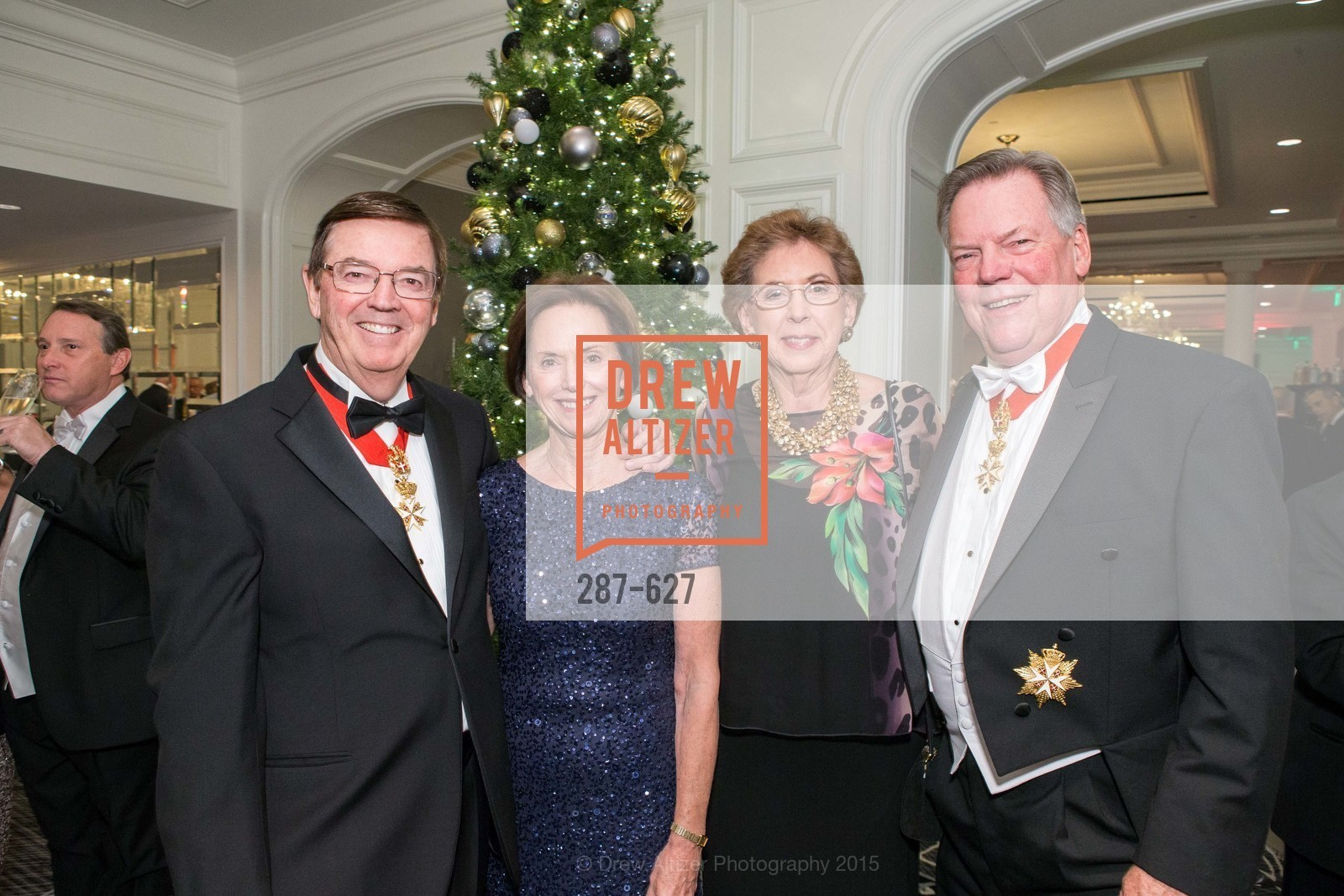 Bill Murphy, Brenda Murphy, Kathy Hull, Bill Gisvold, Sovereign Order Of St John of Jerusalem Knights Hospitaller Gala, Ritz Carlton San Francisco, December 5th, 2015,Drew Altizer, Drew Altizer Photography, full-service agency, private events, San Francisco photographer, photographer california