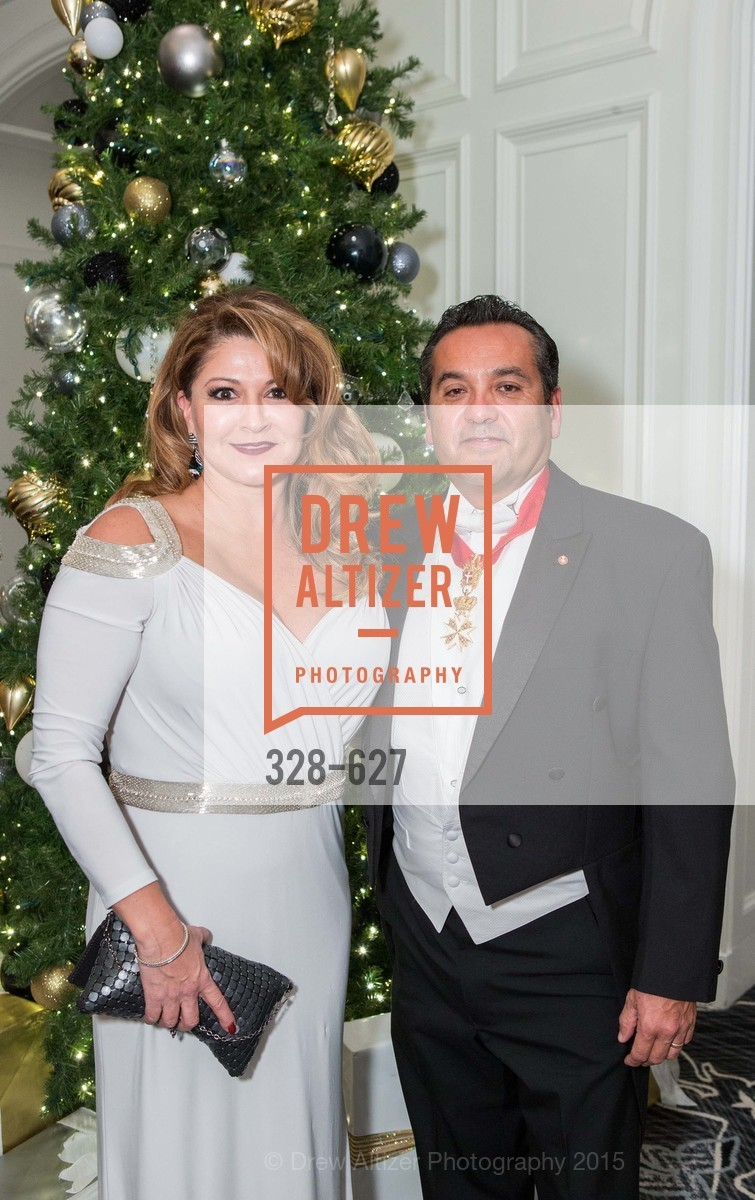 Renee Mendoza, Ray Mendoza, Sovereign Order Of St John of Jerusalem Knights Hospitaller Gala, Ritz Carlton San Francisco, December 5th, 2015,Drew Altizer, Drew Altizer Photography, full-service agency, private events, San Francisco photographer, photographer california