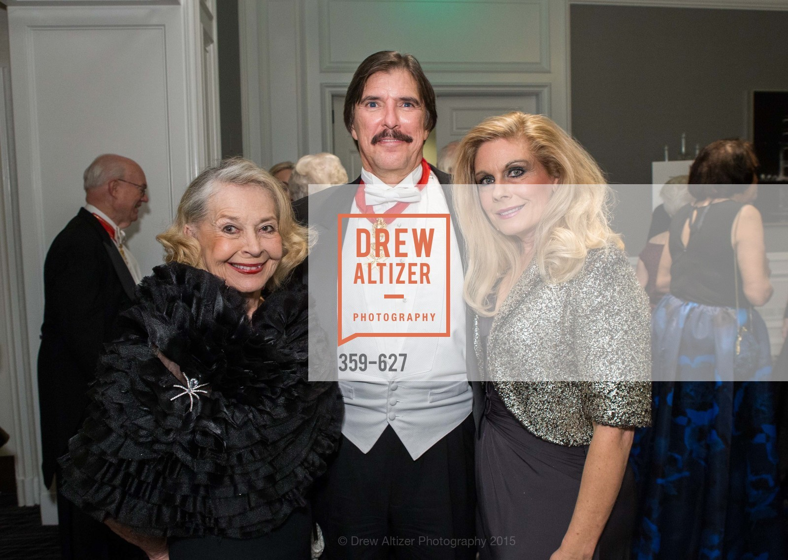 Irene Bechtel, John Rosin, Jacqueline Jacoby, Sovereign Order Of St John of Jerusalem Knights Hospitaller Gala, Ritz Carlton San Francisco, December 5th, 2015,Drew Altizer, Drew Altizer Photography, full-service agency, private events, San Francisco photographer, photographer california