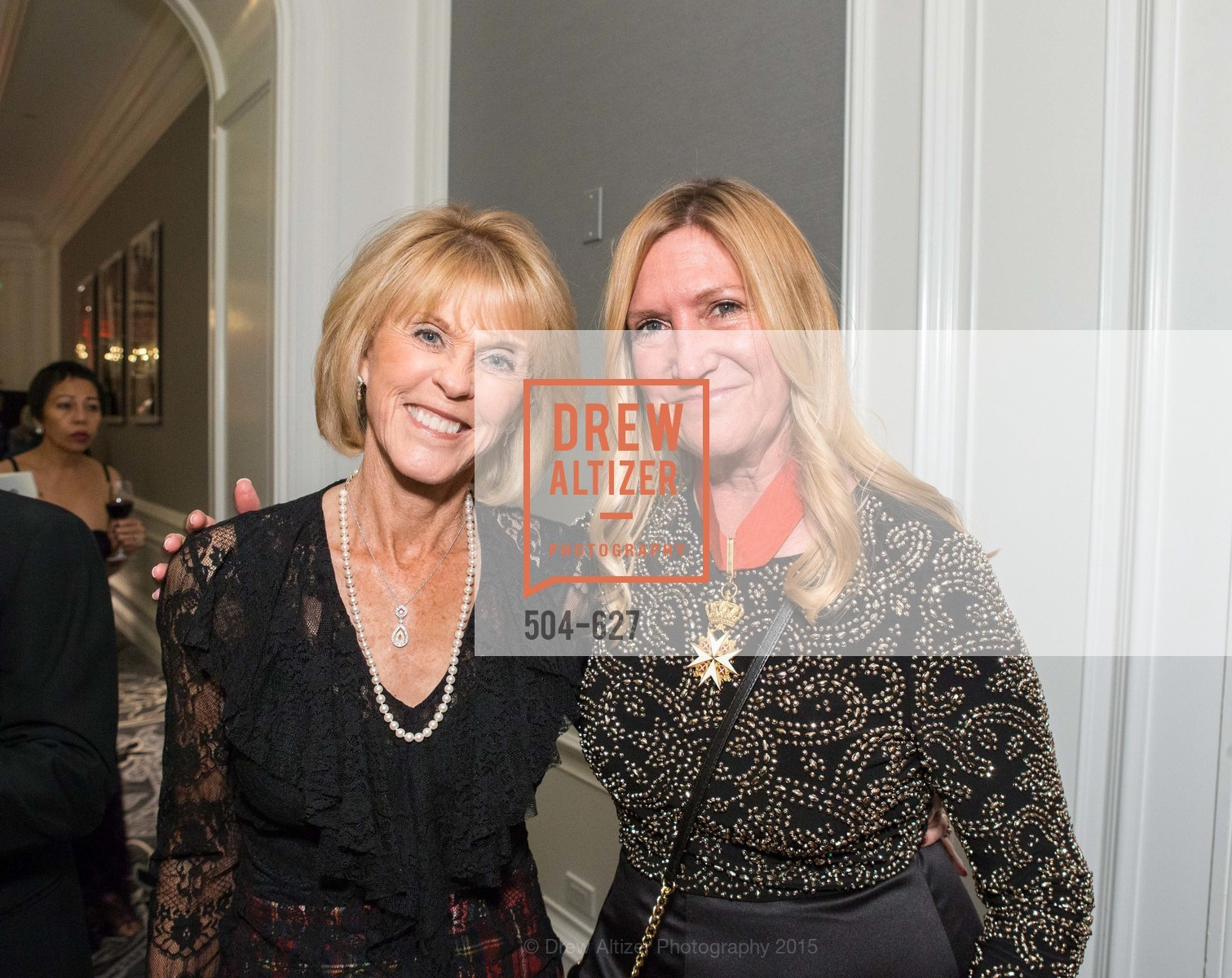 Mary Kay Marvin, Kim Worrall, Sovereign Order Of St John of Jerusalem Knights Hospitaller Gala, Ritz Carlton San Francisco, December 5th, 2015,Drew Altizer, Drew Altizer Photography, full-service agency, private events, San Francisco photographer, photographer california