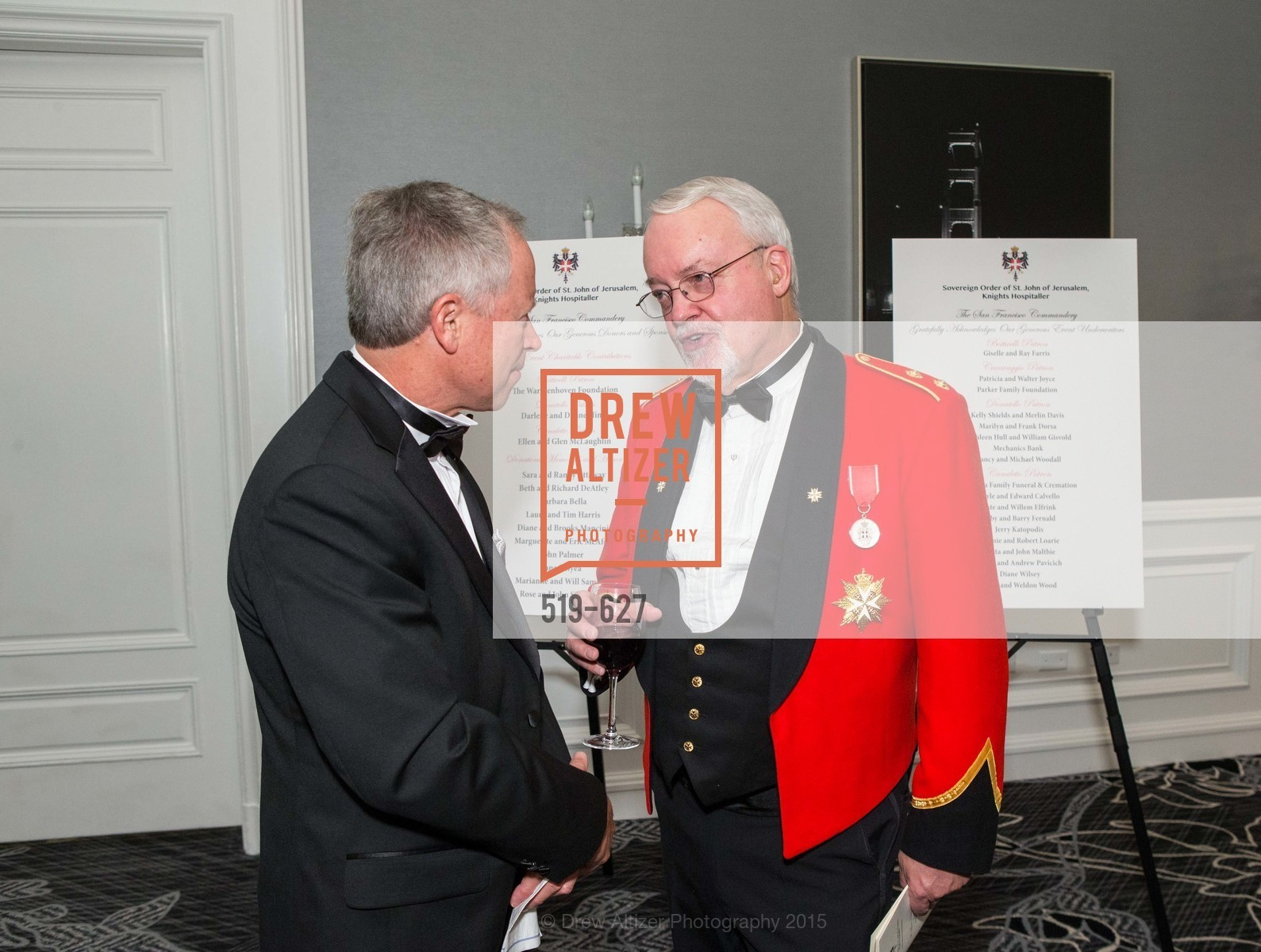 Jeff Anderson, Ian Reid, Sovereign Order Of St John of Jerusalem Knights Hospitaller Gala, Ritz Carlton San Francisco, December 5th, 2015,Drew Altizer, Drew Altizer Photography, full-service agency, private events, San Francisco photographer, photographer california