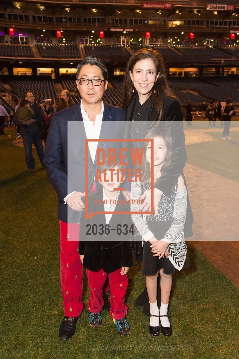 Michael Kim, Dashiell Kim, Anabel Kim, Letitia Kim, Holiday Heroes 2015, AT&T Park, December 7th, 2015,Drew Altizer, Drew Altizer Photography, full-service agency, private events, San Francisco photographer, photographer california