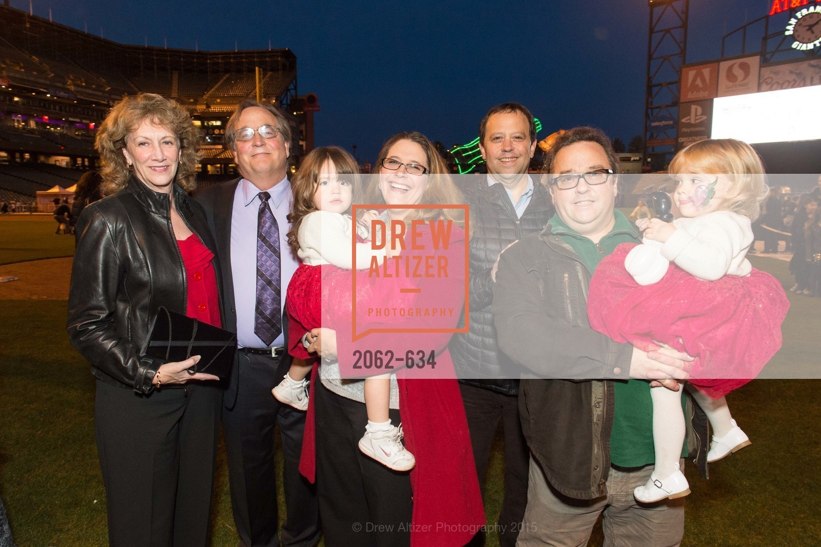 Liane Baker, Michael Baker, Cecilia Flanagan, Catherine Flanagan, Mark Flanagan, Chris Flanagan, Lily Flanagan, Holiday Heroes 2015, AT&T Park, December 7th, 2015,Drew Altizer, Drew Altizer Photography, full-service agency, private events, San Francisco photographer, photographer california