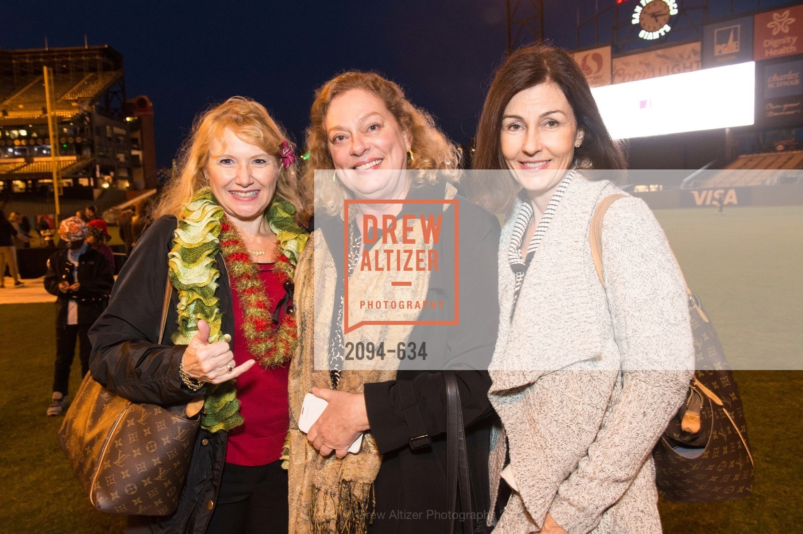 Peggy Odenbach, Julie Kurtz, Chris Roberson, Holiday Heroes 2015, AT&T Park, December 7th, 2015,Drew Altizer, Drew Altizer Photography, full-service agency, private events, San Francisco photographer, photographer california