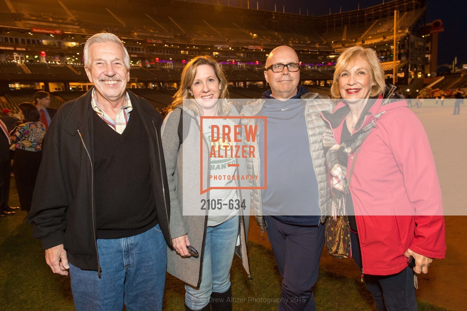 Neal Bischel, Diane Nelson, Scott Nelson, Susan Bischel, Holiday Heroes 2015, AT&T Park, December 7th, 2015,Drew Altizer, Drew Altizer Photography, full-service agency, private events, San Francisco photographer, photographer california