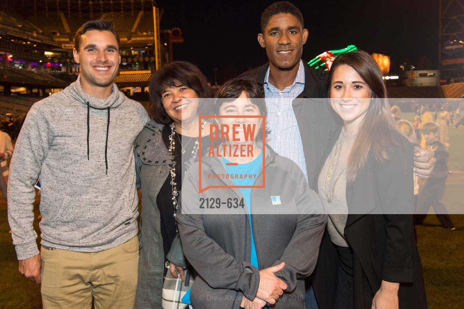 Chris Wondolowski, Marilyn Rogers, Lisa Hurley, Khari Stephenson, Jenny Eastland, Holiday Heroes 2015, AT&T Park, December 7th, 2015,Drew Altizer, Drew Altizer Photography, full-service agency, private events, San Francisco photographer, photographer california