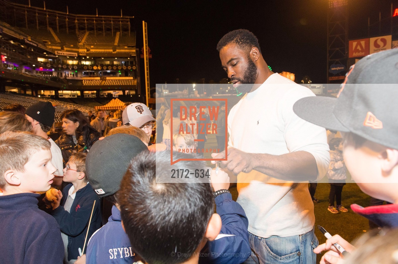 Justin Tuck, Holiday Heroes 2015, AT&T Park, December 7th, 2015