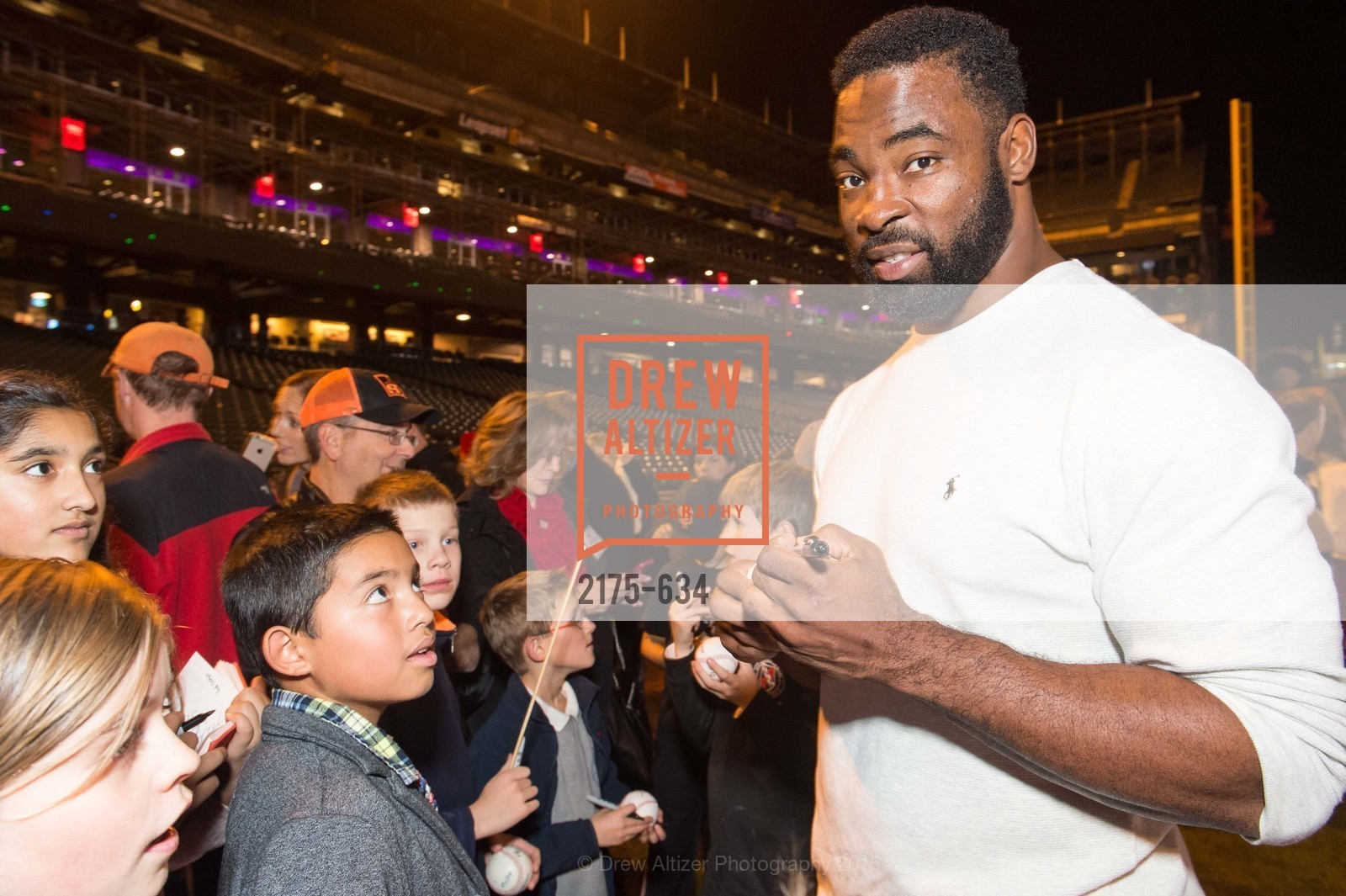Justin Tuck, Holiday Heroes 2015, AT&T Park, December 7th, 2015,Drew Altizer, Drew Altizer Photography, full-service agency, private events, San Francisco photographer, photographer california