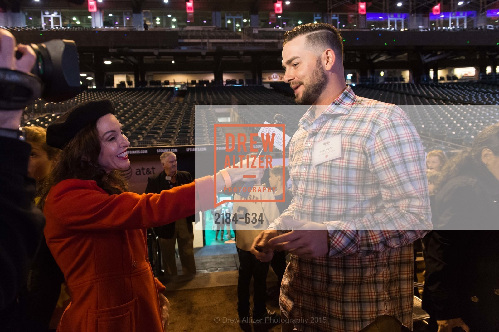Marybeth Lamotte, Chris Heston, Holiday Heroes 2015, AT&T Park, December 7th, 2015,Drew Altizer, Drew Altizer Photography, full-service agency, private events, San Francisco photographer, photographer california
