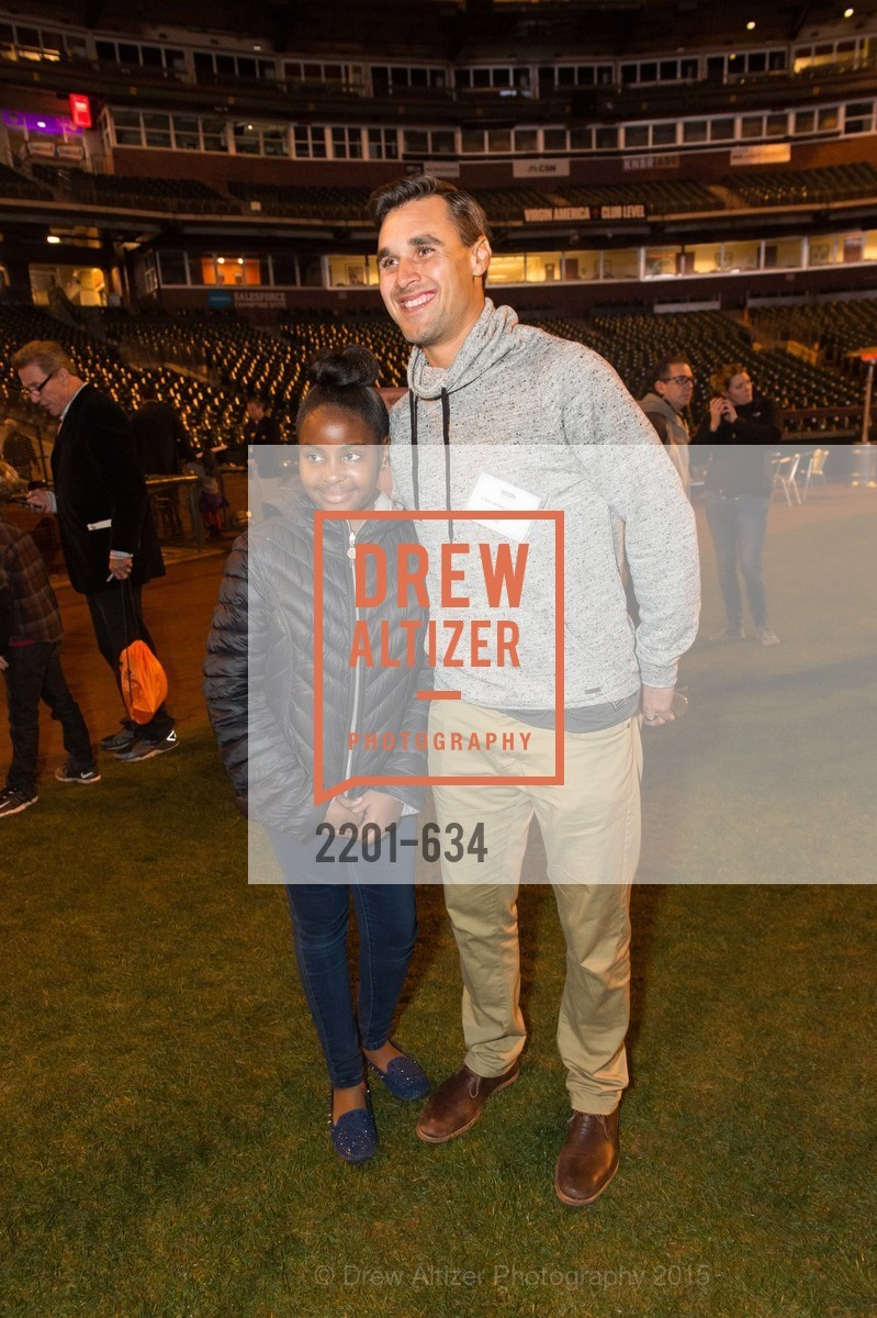 Imani Clifton, Chris Wondolowski, Holiday Heroes 2015, AT&T Park, December 7th, 2015,Drew Altizer, Drew Altizer Photography, full-service agency, private events, San Francisco photographer, photographer california