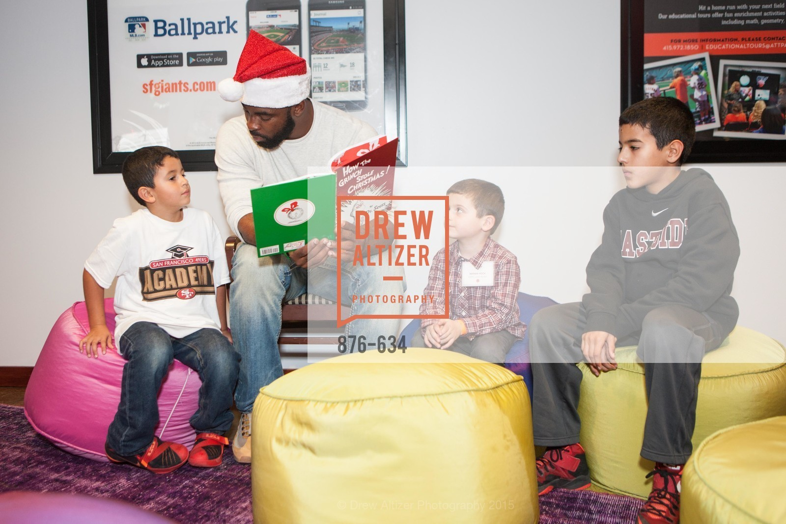 Justin Tuck, Holiday Heroes 2015, AT&T Park, December 7th, 2015,Drew Altizer, Drew Altizer Photography, full-service event agency, private events, San Francisco photographer, photographer California