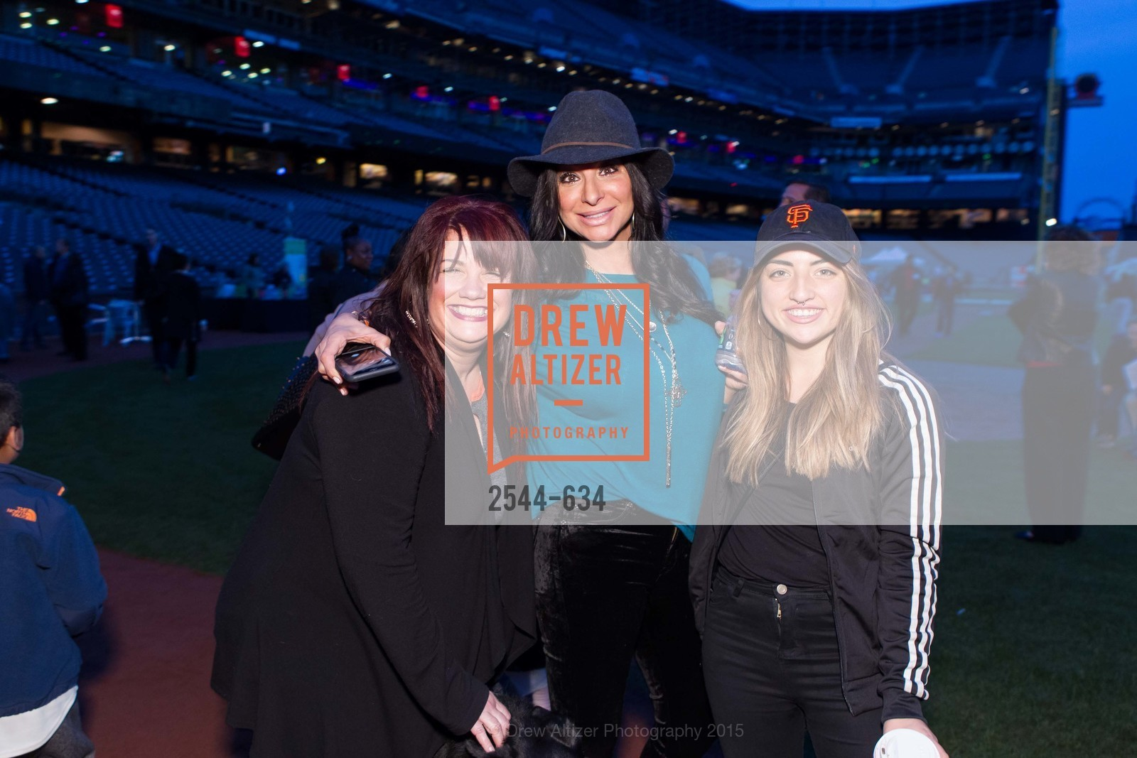 Molly Hulton, Deb Monte, Rosanna Romero, Holiday Heroes 2015, AT&T Park, December 7th, 2015,Drew Altizer, Drew Altizer Photography, full-service agency, private events, San Francisco photographer, photographer california