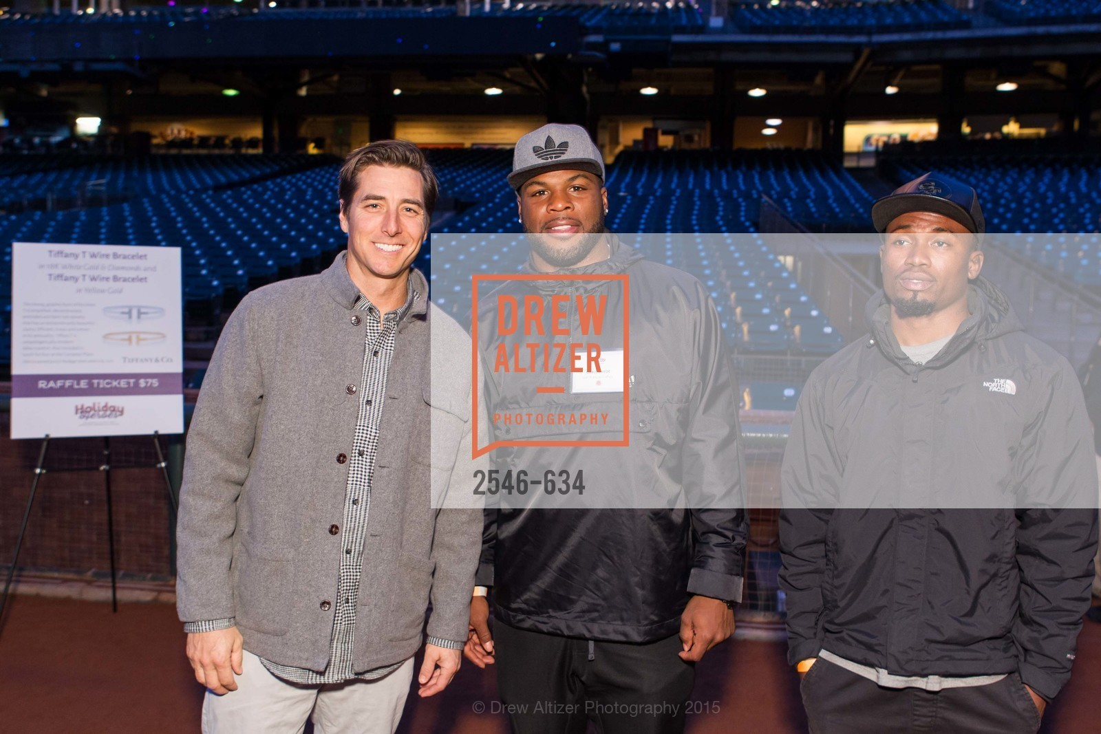 Jonny Moseley, Carlos Hyde, Greg Pratt, Holiday Heroes 2015, AT&T Park, December 7th, 2015,Drew Altizer, Drew Altizer Photography, full-service agency, private events, San Francisco photographer, photographer california