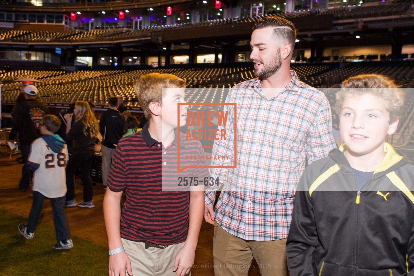 Jackson Muzzy, Chris Heston, Vincent Brugioni, Holiday Heroes 2015, AT&T Park, December 7th, 2015,Drew Altizer, Drew Altizer Photography, full-service agency, private events, San Francisco photographer, photographer california