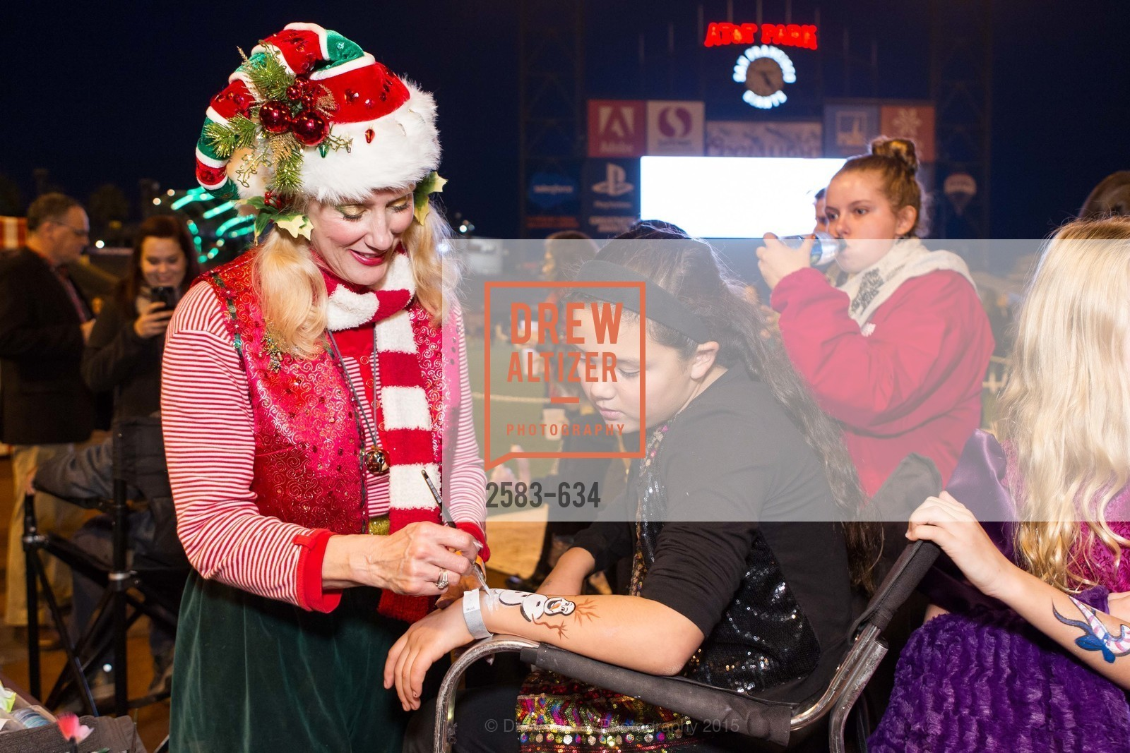 Sandra Leathley, Tess Gundacker, Holiday Heroes 2015, AT&T Park, December 7th, 2015,Drew Altizer, Drew Altizer Photography, full-service agency, private events, San Francisco photographer, photographer california