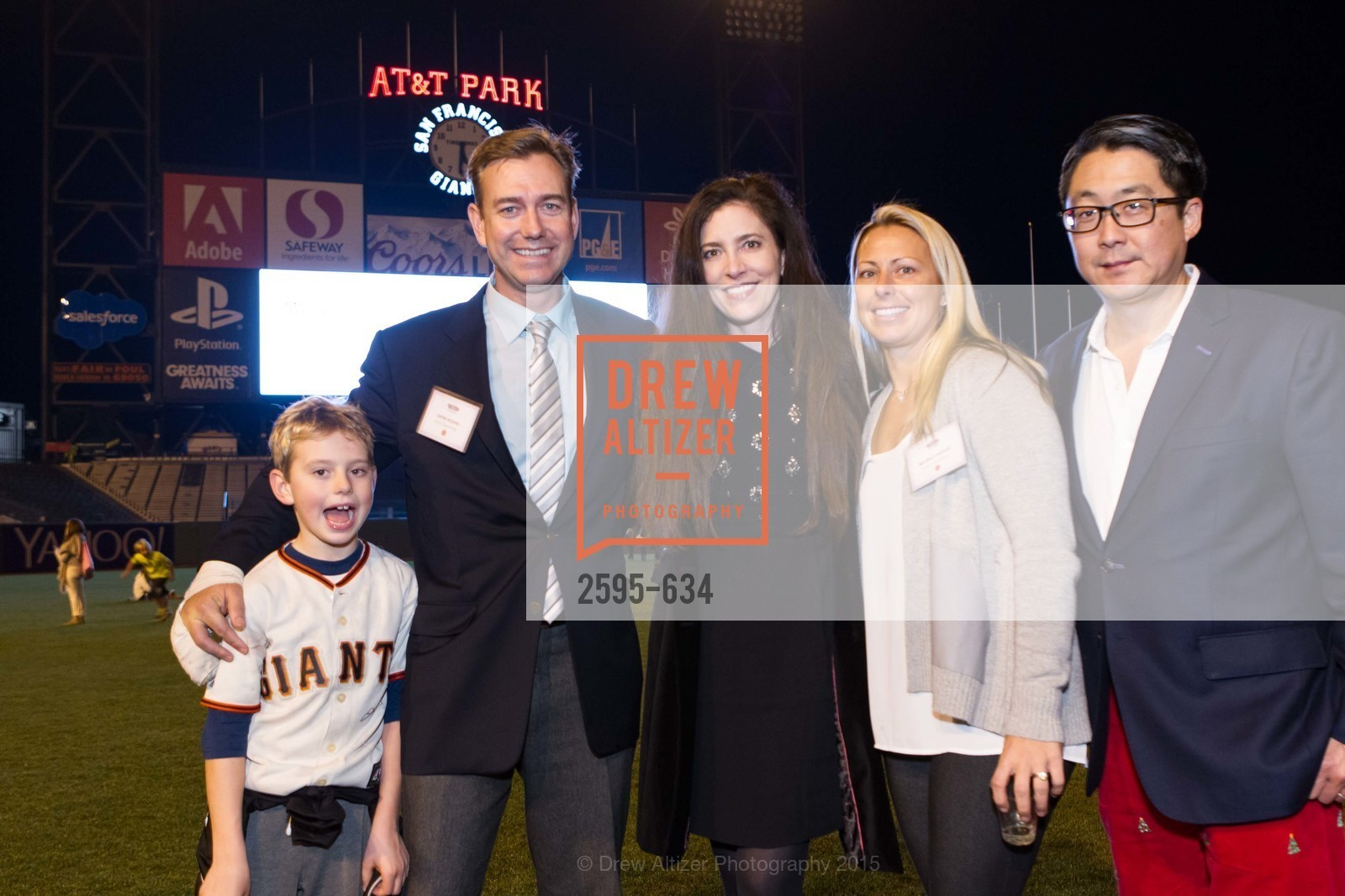 James Hughes, Justin Hughes, Letitia Kim, Michelle Hughes, Michael Kim, Holiday Heroes 2015, AT&T Park, December 7th, 2015,Drew Altizer, Drew Altizer Photography, full-service agency, private events, San Francisco photographer, photographer california