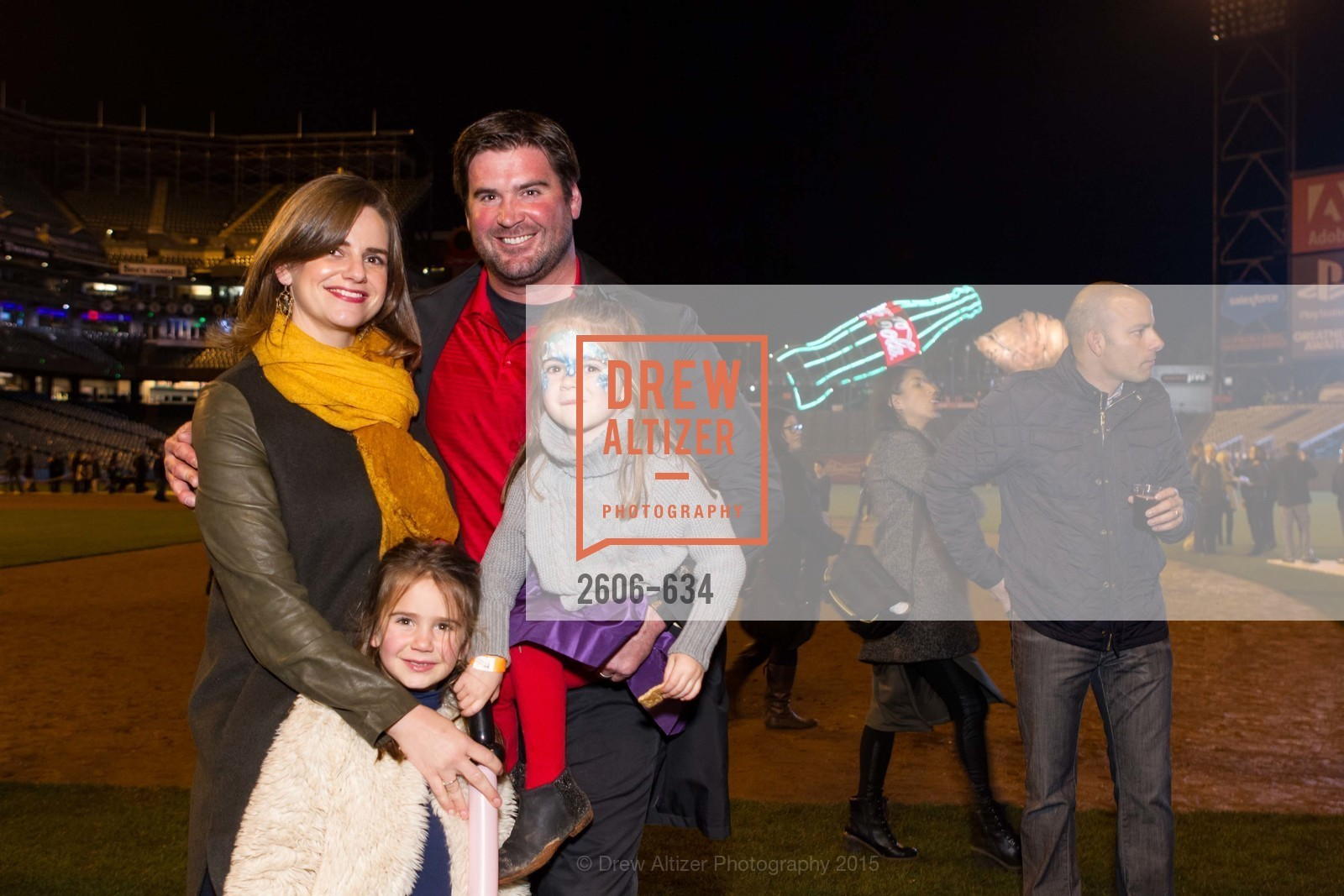 Emily Heitmann, Evie Heitmann, Ellie Heitmann, Eric Heitmann, Holiday Heroes 2015, AT&T Park, December 7th, 2015,Drew Altizer, Drew Altizer Photography, full-service agency, private events, San Francisco photographer, photographer california