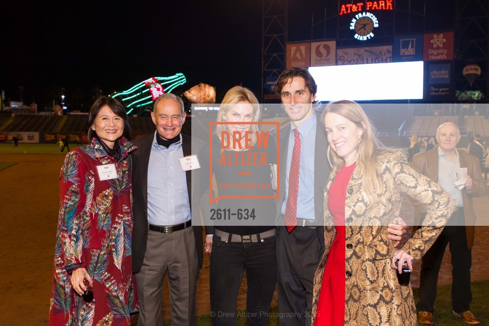 Lita Sam-Vargas, Alan Gevins, Tracy Gibbs, Paul Pelosi, Nora Feeley, Holiday Heroes 2015, AT&T Park, December 7th, 2015,Drew Altizer, Drew Altizer Photography, full-service event agency, private events, San Francisco photographer, photographer California