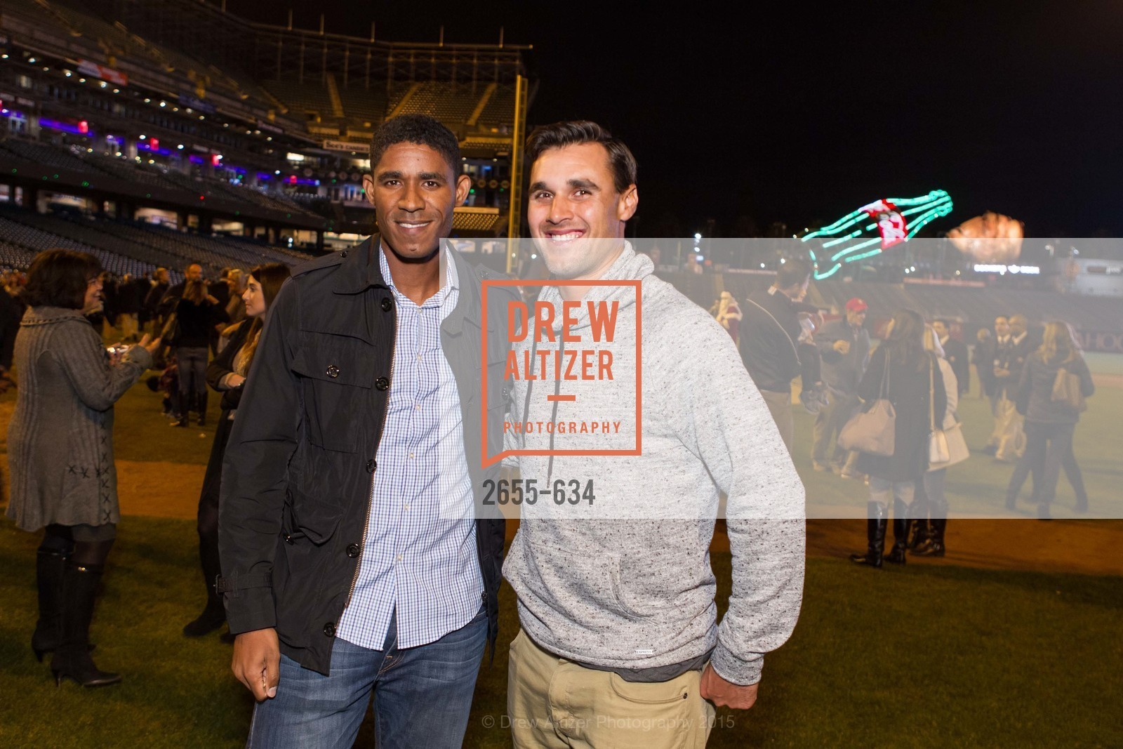 Khari Stephenson, Chris Wondolowski, Holiday Heroes 2015, AT&T Park, December 7th, 2015,Drew Altizer, Drew Altizer Photography, full-service agency, private events, San Francisco photographer, photographer california