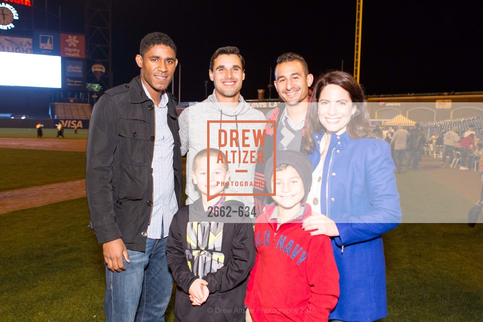 Khari Stephenson, Chris Wondolowski, Rick Santa Maria, Lucas Santa Maria, Jessica Santa Maria, Eli Santa Maria, Holiday Heroes 2015, AT&T Park, December 7th, 2015,Drew Altizer, Drew Altizer Photography, full-service agency, private events, San Francisco photographer, photographer california