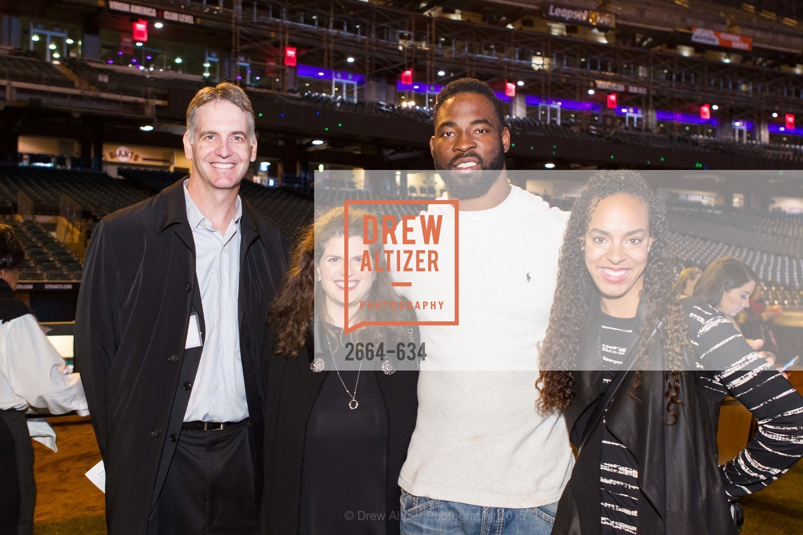 John Hoch, Amy Wender-Hoch, Justin Tuck, Lauran Tuck, Holiday Heroes 2015, AT&T Park, December 7th, 2015,Drew Altizer, Drew Altizer Photography, full-service agency, private events, San Francisco photographer, photographer california