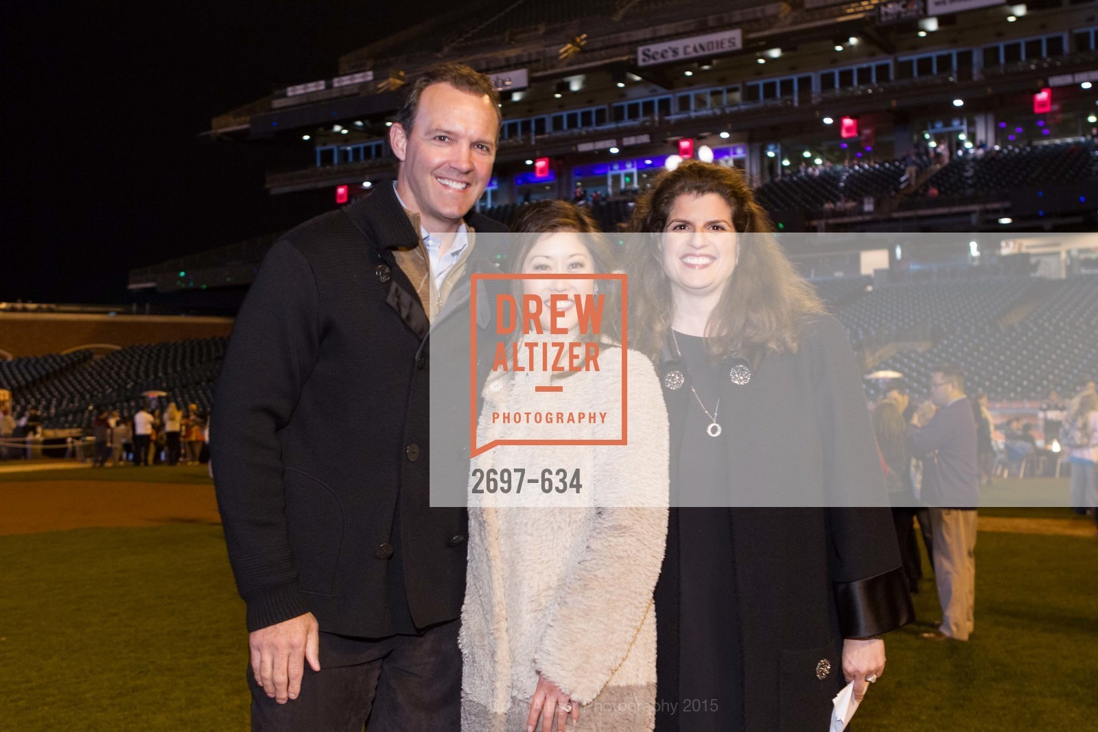 Bret Hedican, Kristi Yamaguchi, Amy Wender-Hoch, Holiday Heroes 2015, AT&T Park, December 7th, 2015,Drew Altizer, Drew Altizer Photography, full-service agency, private events, San Francisco photographer, photographer california