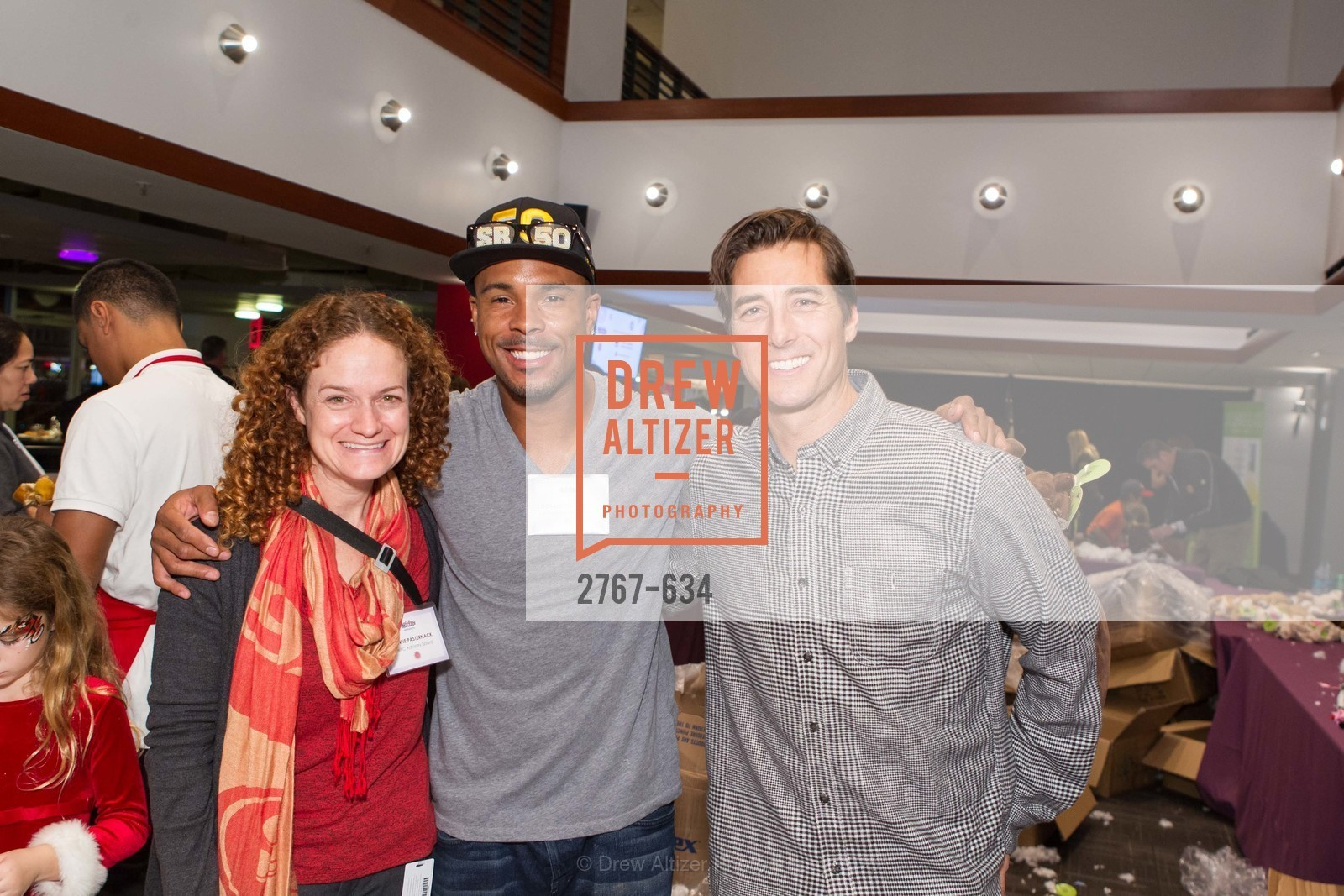 Joanne Pasternack, Donald Strickland, Jonny Moseley, Holiday Heroes 2015, AT&T Park, December 7th, 2015,Drew Altizer, Drew Altizer Photography, full-service agency, private events, San Francisco photographer, photographer california