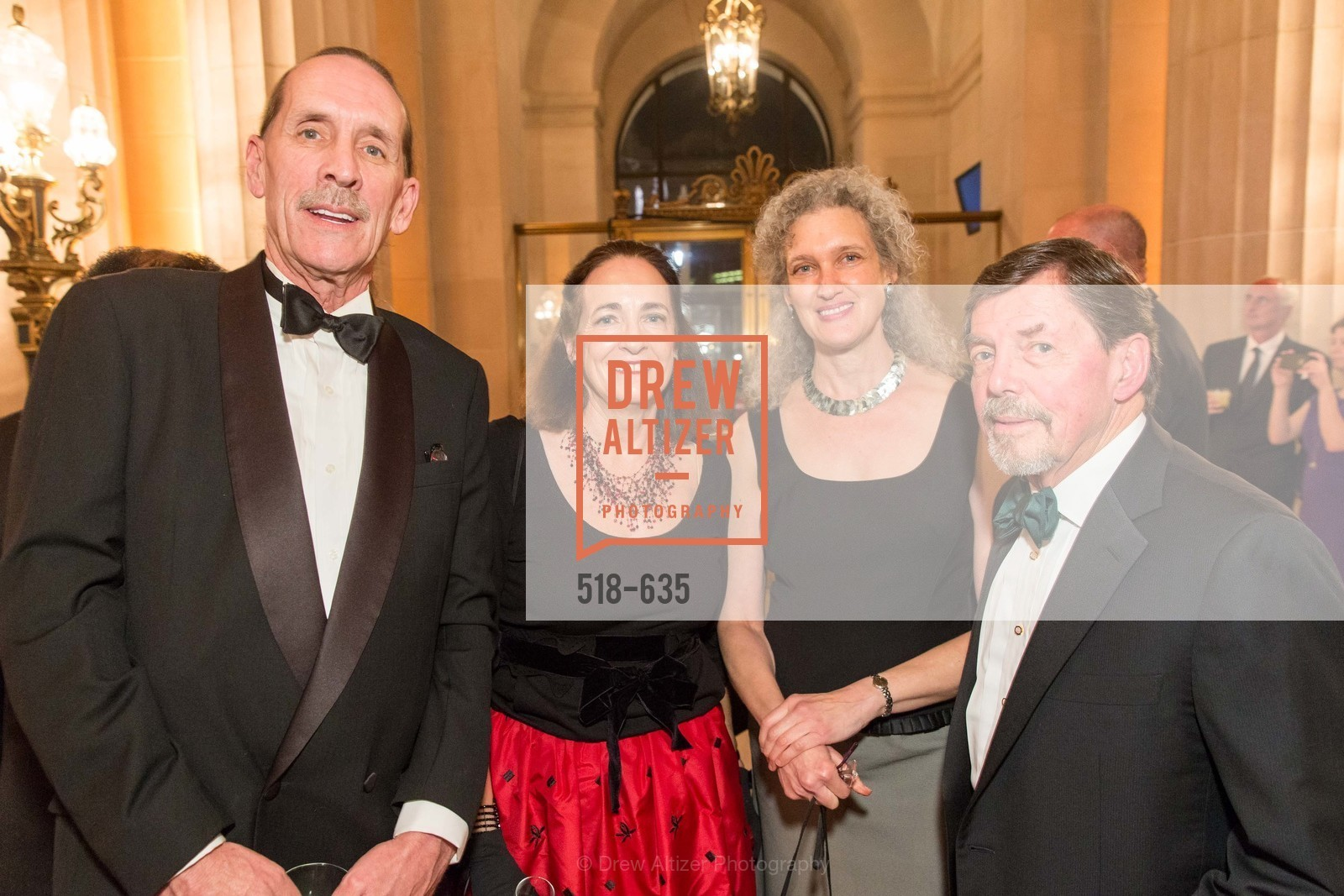 Robin Sutherland, Nancy Ludgus, Nadia Tichman, Larry Ludgus, An Evening on the Stage Honoring Renaissance Man Gordon Getty, War Memorial Opera House. 301 Van Ness Ave, December 7th, 2015,Drew Altizer, Drew Altizer Photography, full-service agency, private events, San Francisco photographer, photographer california