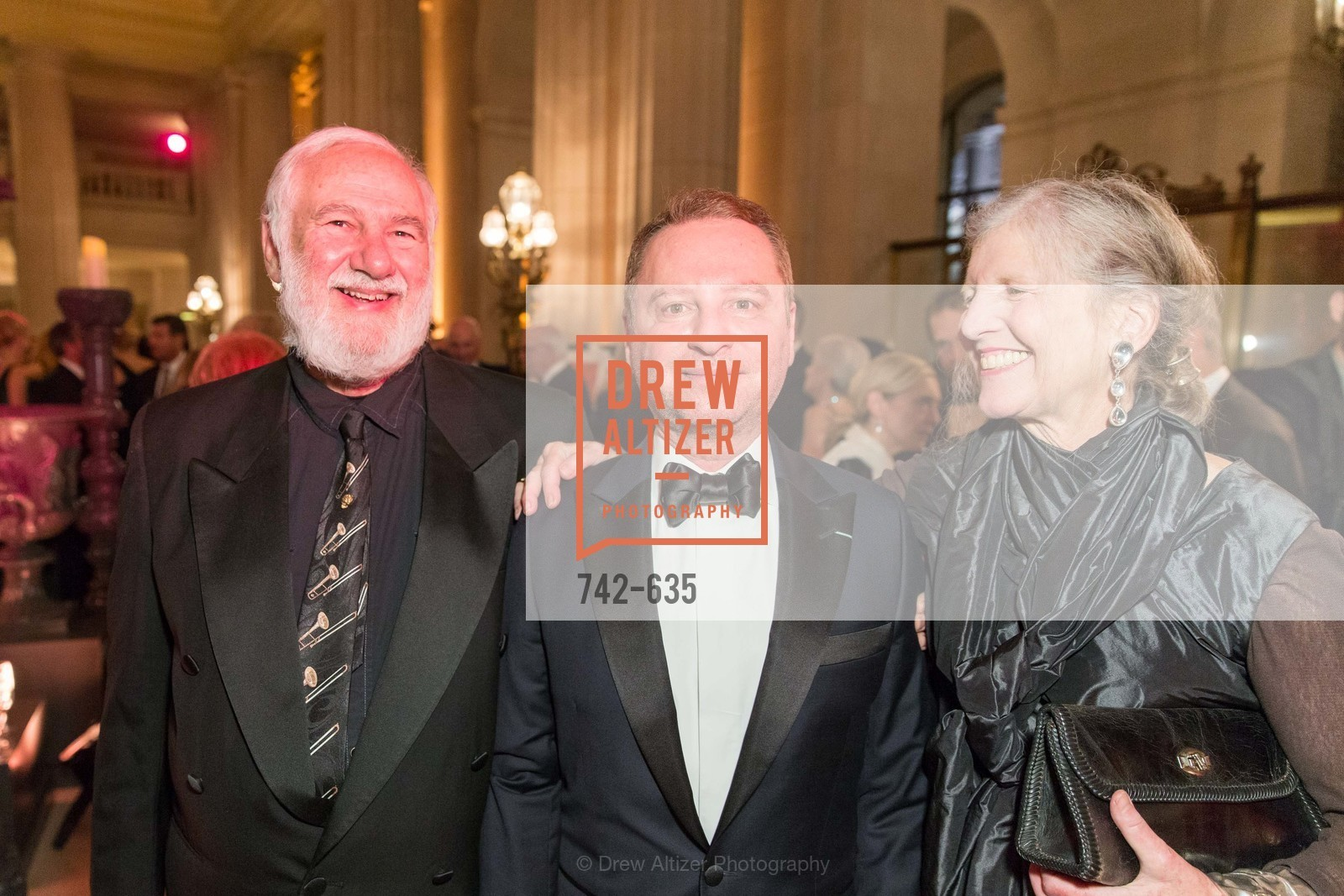 Jerry Garchik, Serge Sorokko, Leah Garchik, An Evening on the Stage Honoring Renaissance Man Gordon Getty, War Memorial Opera House. 301 Van Ness Ave, December 7th, 2015,Drew Altizer, Drew Altizer Photography, full-service agency, private events, San Francisco photographer, photographer california