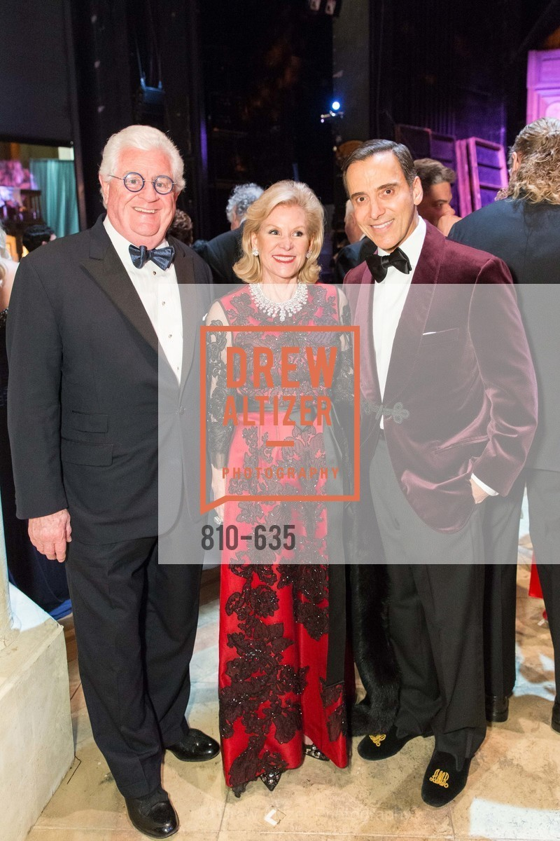 Bob Hill, Dede Wilsey, Alan Malouf, An Evening on the Stage Honoring Renaissance Man Gordon Getty, War Memorial Opera House. 301 Van Ness Ave, December 7th, 2015,Drew Altizer, Drew Altizer Photography, full-service agency, private events, San Francisco photographer, photographer california