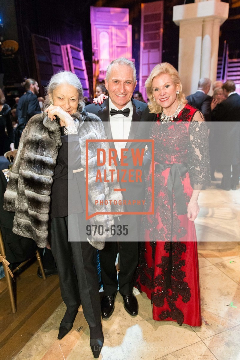 Denise Hale, Curt Brannom, Dede Wilsey, An Evening on the Stage Honoring Renaissance Man Gordon Getty, War Memorial Opera House. 301 Van Ness Ave, December 7th, 2015,Drew Altizer, Drew Altizer Photography, full-service agency, private events, San Francisco photographer, photographer california