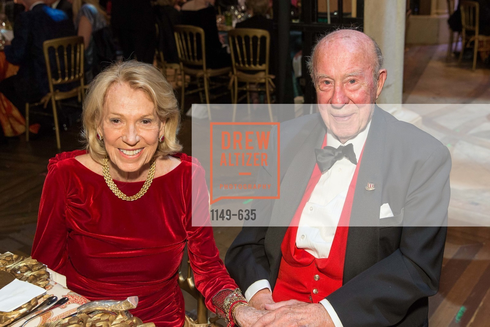 Charlotte Shultz, George Shultz, An Evening on the Stage Honoring Renaissance Man Gordon Getty, War Memorial Opera House. 301 Van Ness Ave, December 7th, 2015,Drew Altizer, Drew Altizer Photography, full-service agency, private events, San Francisco photographer, photographer california