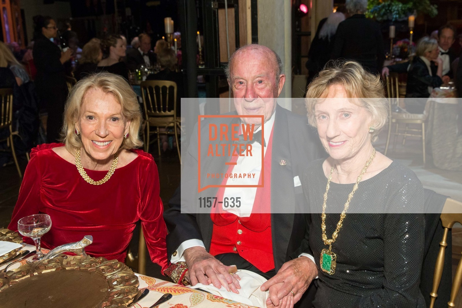 Charlotte Shultz, George Shultz, Nancy Bechtle, An Evening on the Stage Honoring Renaissance Man Gordon Getty, War Memorial Opera House. 301 Van Ness Ave, December 7th, 2015,Drew Altizer, Drew Altizer Photography, full-service agency, private events, San Francisco photographer, photographer california