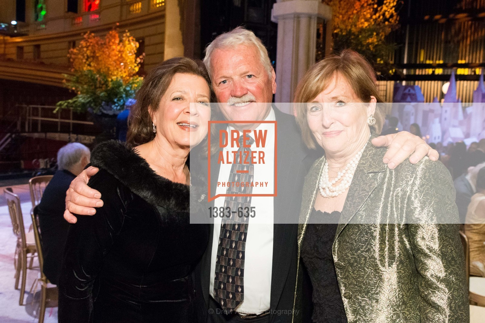 Linda Kemper, Mike Gorman, Frederica von Stade, An Evening on the Stage Honoring Renaissance Man Gordon Getty, War Memorial Opera House. 301 Van Ness Ave, December 7th, 2015,Drew Altizer, Drew Altizer Photography, full-service event agency, private events, San Francisco photographer, photographer California