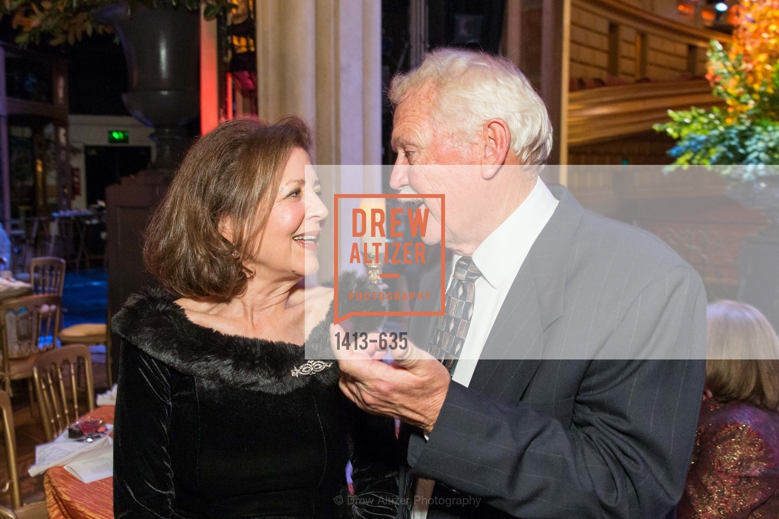 Linda Kemper, Mike Gorman, An Evening on the Stage Honoring Renaissance Man Gordon Getty, War Memorial Opera House. 301 Van Ness Ave, December 7th, 2015,Drew Altizer, Drew Altizer Photography, full-service agency, private events, San Francisco photographer, photographer california