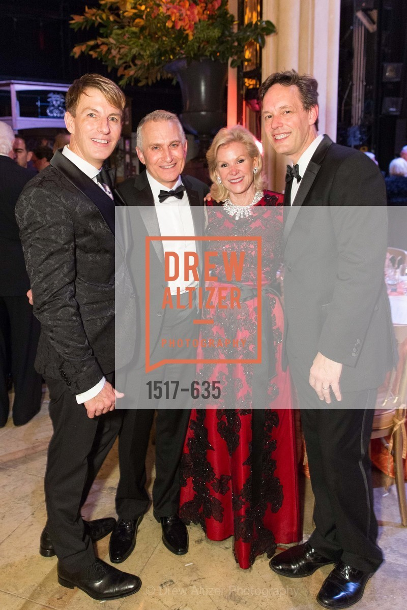 Jack Calhoun, Curt Brannom, Dede Wilsey, Jake Heggie, An Evening on the Stage Honoring Renaissance Man Gordon Getty, War Memorial Opera House. 301 Van Ness Ave, December 7th, 2015,Drew Altizer, Drew Altizer Photography, full-service agency, private events, San Francisco photographer, photographer california