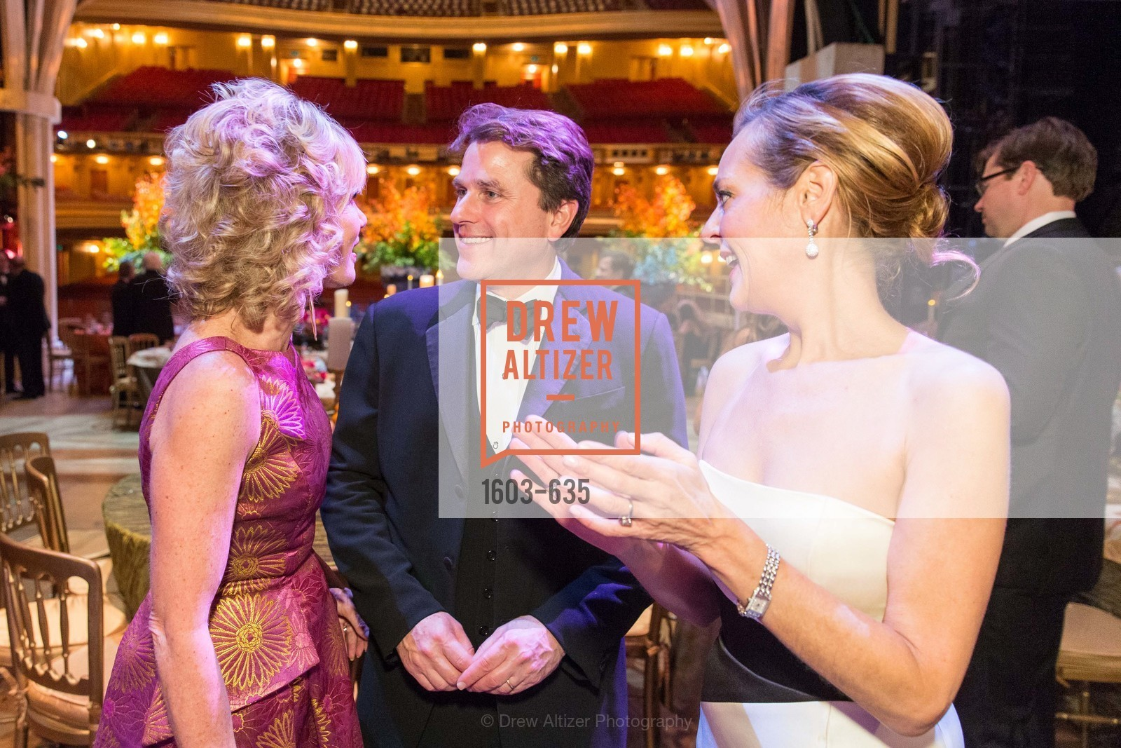 Mary Poland, Gregory Malin, Charlot Malin, An Evening on the Stage Honoring Renaissance Man Gordon Getty, War Memorial Opera House. 301 Van Ness Ave, December 7th, 2015,Drew Altizer, Drew Altizer Photography, full-service agency, private events, San Francisco photographer, photographer california