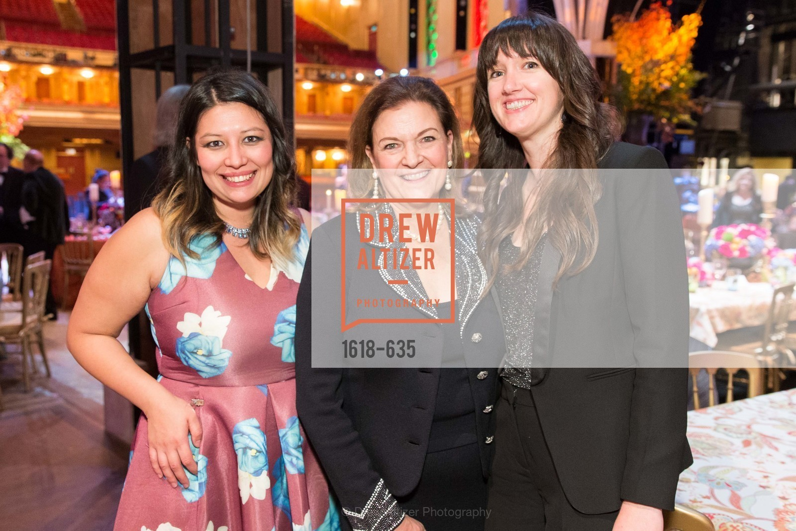 Dianne Cavagnaro, Susan Malott, Megan McDonald, An Evening on the Stage Honoring Renaissance Man Gordon Getty, War Memorial Opera House. 301 Van Ness Ave, December 7th, 2015,Drew Altizer, Drew Altizer Photography, full-service agency, private events, San Francisco photographer, photographer california
