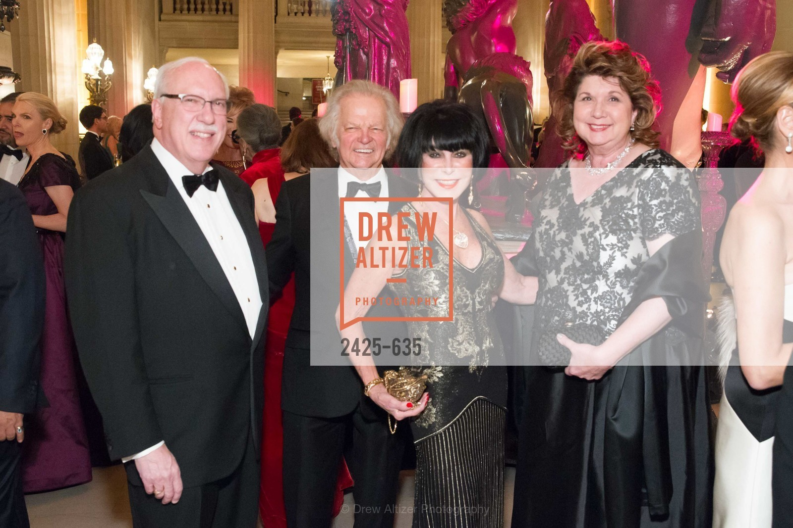 Richard Glogow, Michael Cabak, Marilyn Cabak, Pamela Glogow, An Evening on the Stage Honoring Renaissance Man Gordon Getty, War Memorial Opera House. 301 Van Ness Ave, December 7th, 2015,Drew Altizer, Drew Altizer Photography, full-service agency, private events, San Francisco photographer, photographer california