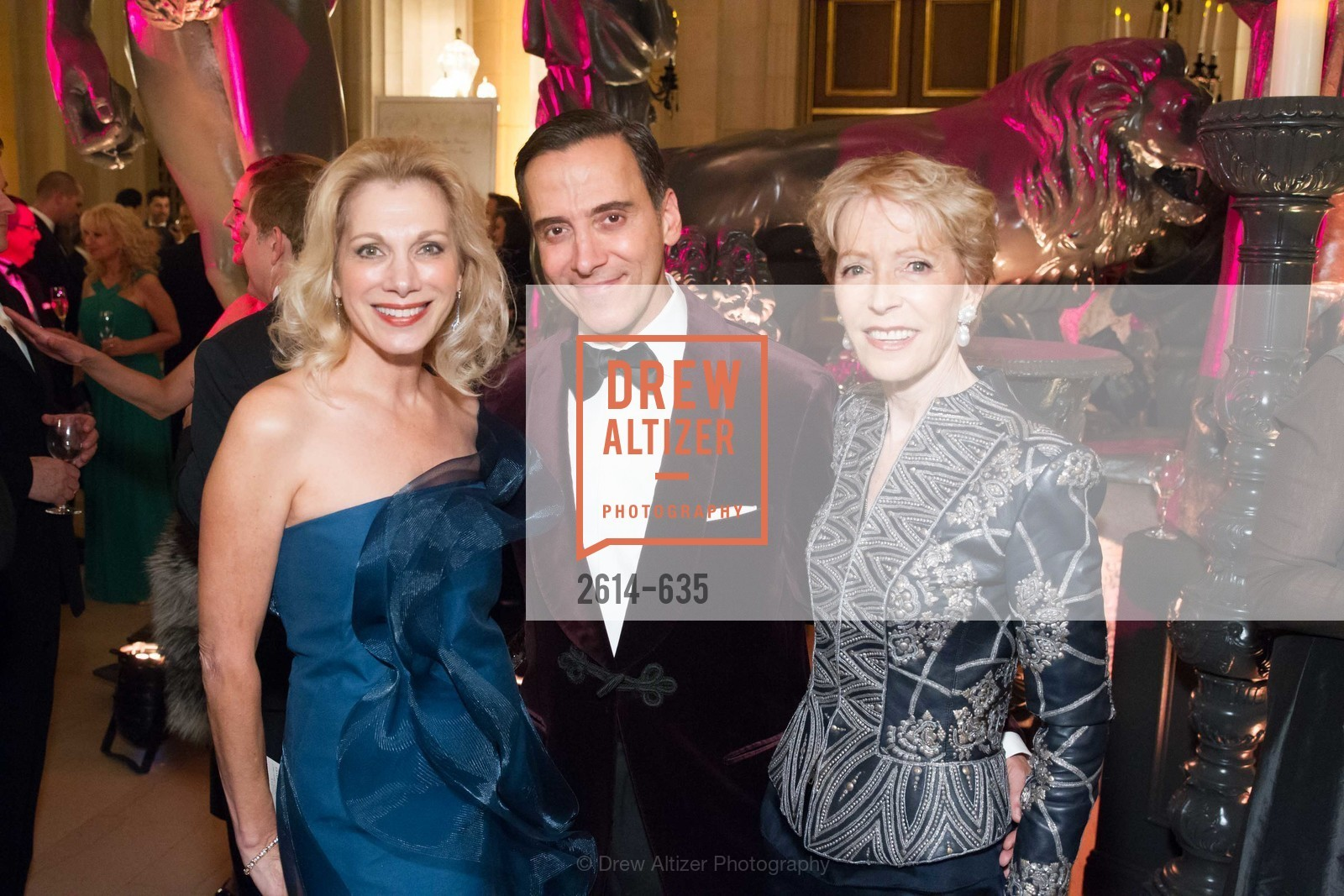 Cynthia Schroeder, Alan Malouf, Barbara Brookins-schneider, An Evening on the Stage Honoring Renaissance Man Gordon Getty, War Memorial Opera House. 301 Van Ness Ave, December 7th, 2015,Drew Altizer, Drew Altizer Photography, full-service agency, private events, San Francisco photographer, photographer california